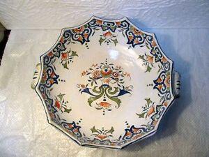Ancien Plat Chantourne En Faience De Rouen Myevvvys-08005109-142109983