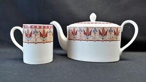 Johnson-Brothers-England-Papyrus-Teapot-with-Lid-amp-a-Mug