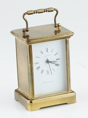 Tiffany & Co Brass Carriage Clock Quartz Authentic Mantel Shelf Clock