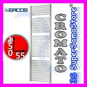 3S NUOVO SCALDASALVIETT<wbr/>E CROMATO TERMOSIFONE CALORIFERO CROMO BAGNO H 150 x L 55