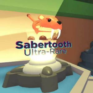 SALE - ROBLOX ADOPT ME PETS- 4 X SABER TOOTH TIGERS . FOR YOU TO MAKE A NEON