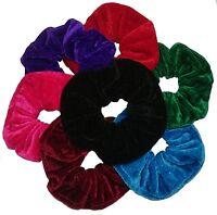 Aadyas Jumbo Set Of 7 Large 16cm Velvet Hair Scrunchies Elastic Scrunchy Hair Of