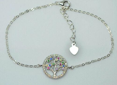 Tree of life bracelet Silver multicolour stone UK seller!
