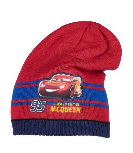 Garçons Filles Enfants Officiel Sous Licence Disney Cars Lightning McQueen rouge chapeau d/'hiver