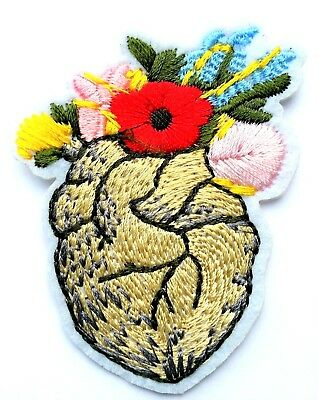 "3.25/"" Yellow Flower Floral Embroidery Patch"