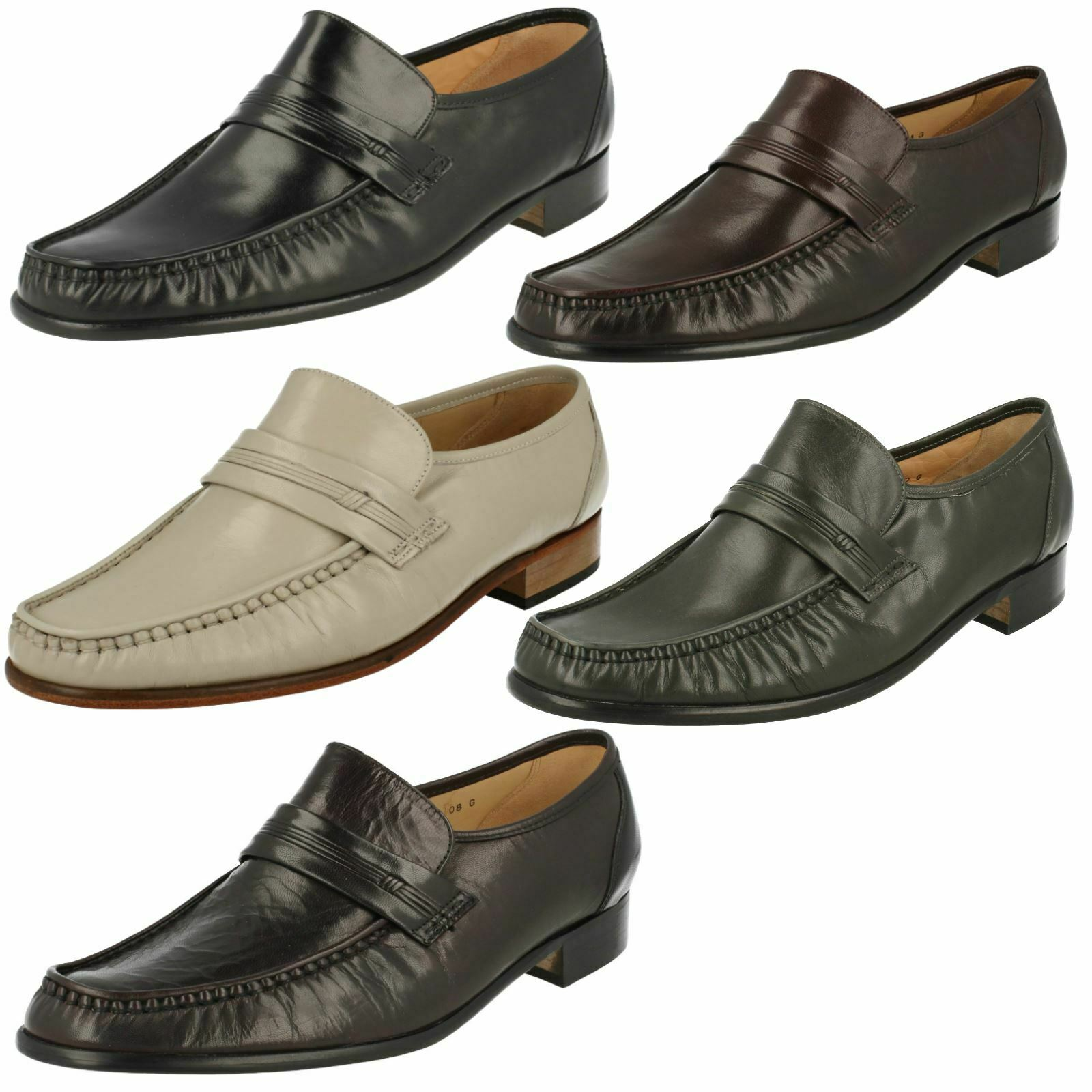 Grenson pour Homme Moccasin chaussures Clapham