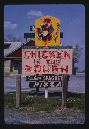 Chicken In the Rough Restaurant sign,Route 11,New Market,Virginia Photo