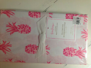 Pottery Barn Lilly Pulitzer Pineapple Pink Organic Percale