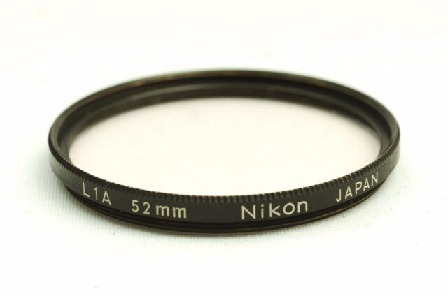 @ Ship in 24 Hours! @ Nikon Black Rim Screw-In Mount L1A 52mm Lens Filter