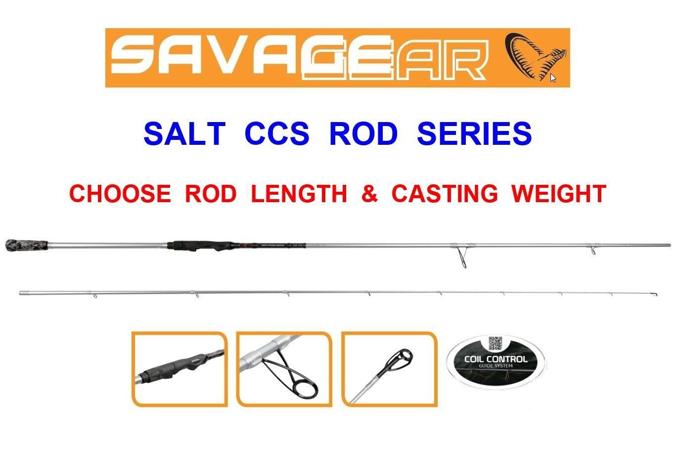 SAVAGE GEAR SALT CCS SPIN ROD SERIES SEA SHORE GAME LURE SPINNING BASS FISHING