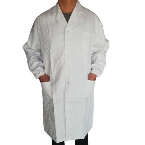 Medical White Unisex Lab Coats Uniform For Men Women Lab Coat Long Sleeve Jacket