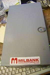 nos milbank w6cs 60 amp indoor enclosure fuse box 250 volt ebay rh ebay com Home Fuse Box Car Fuse Box