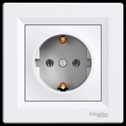 Steckdose Schalter  Schalterserie Ein - Ausschalter Schuko Doppelsteckdose