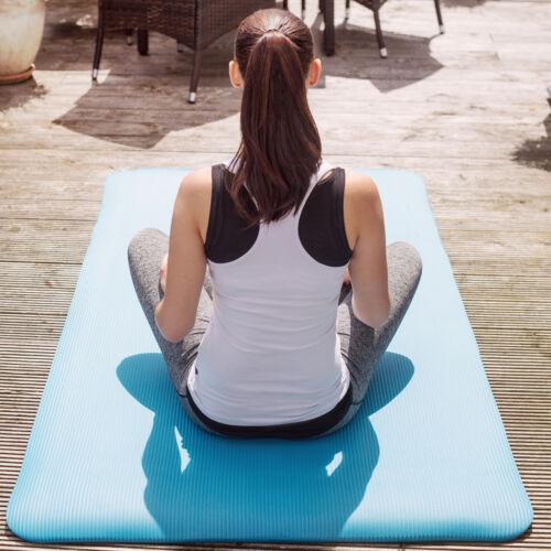 Tappetino Yoga Fitness Tappeto Aerobica Ginnastica Materassino blu 185x80x1,5 nu
