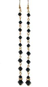 JET-BLACK-Earrings-SWAROVSKI-CRYSTAL-Elements-Super-Long-Shoulder-Dusters-4-3-4-034