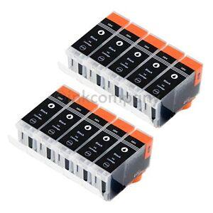 10 x Cartridge PGI-5 BK XL for Canon ip4500x iP3300 iP3500 ip4200x iP4300 MX850 4251529803689