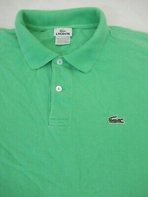 Lacoste Men/'s Polo Size 4 US M SS Knit 100/%Cotton French Design Made in Peru