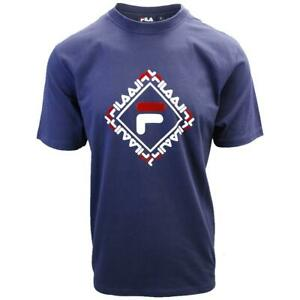 FILA-Men-039-s-Navy-Square-S-S-T-Shirt-S03A