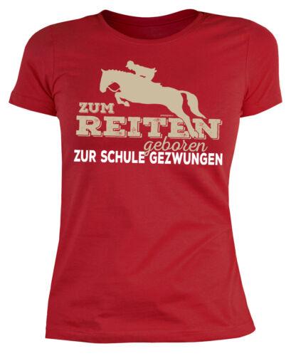Damen Trägershirt Reitsport Pferde Motiv Damen Pferde T-Shirt Spruch