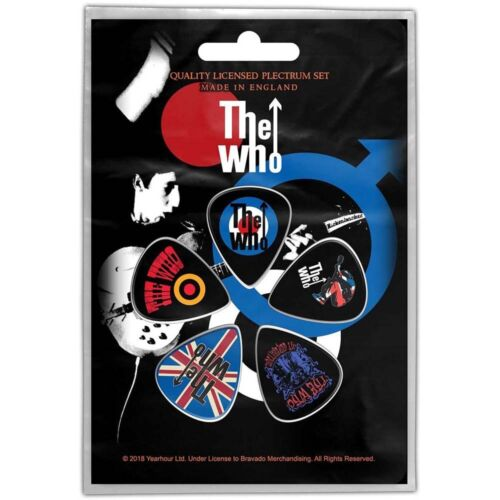 Official Licensed Merch 5-PLECTRUM PACK 1mm Guitar Picks THE WHO Pete Townsend