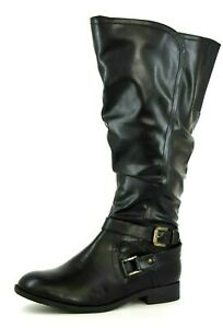 Details about Heavenly Soles Womens UK 6 EEE Curvy Calf Knee High Tall Slouch Style Boots
