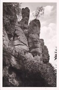 Falkenstein-felsgruppe Ansichtskarte AnpassungsfäHig Herrenalb Im Schwarzwald Ungelaufen