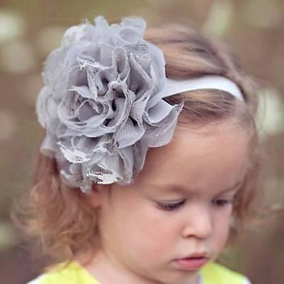Kids Girl Baby Headband Toddler Lace Bow Flower Hair Band Headwear Accessor K0S2