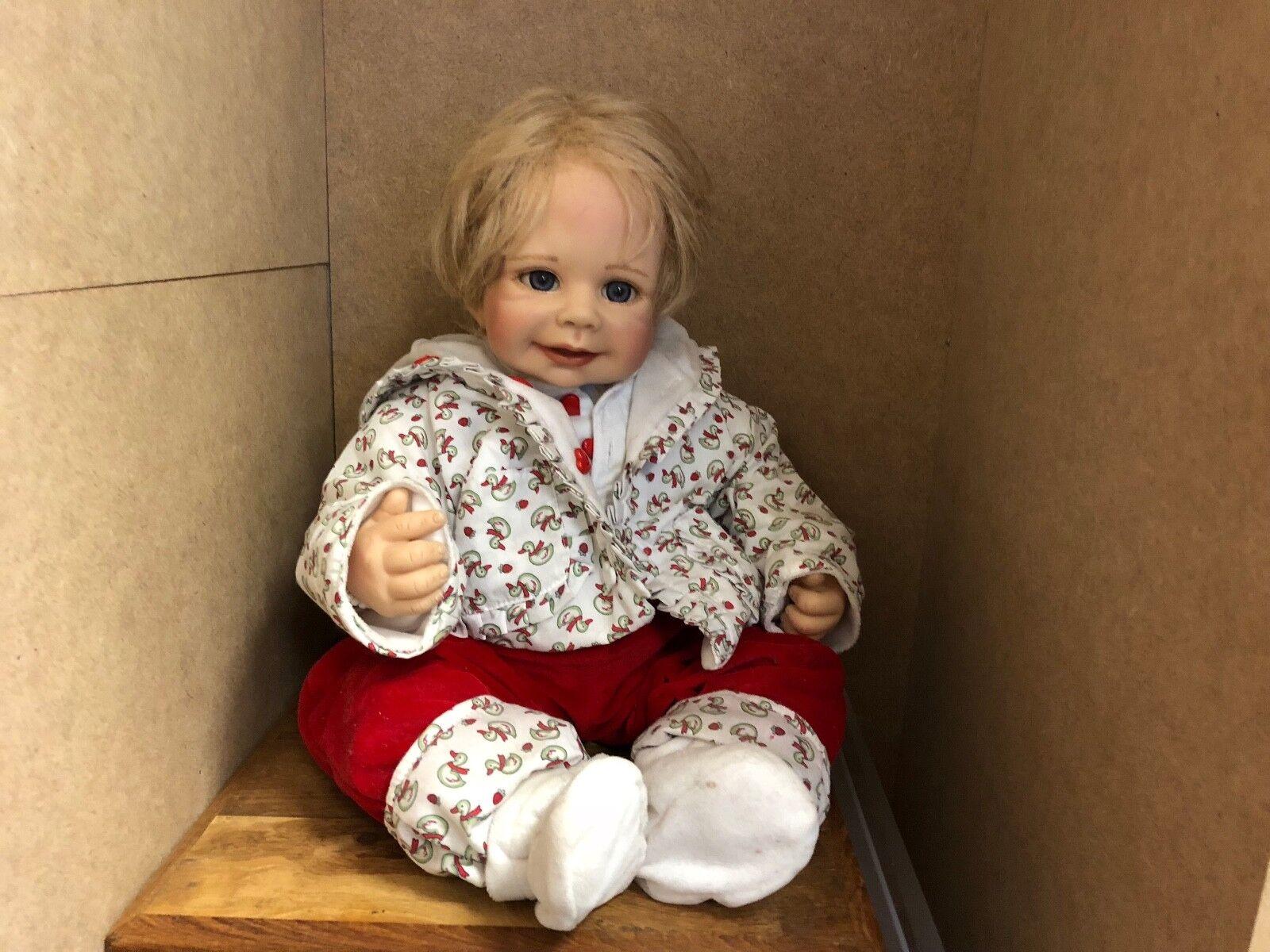 Monika Levenig Vinyl Puppe 54 cm. Top Zustand