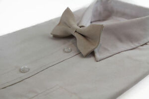 MENS-VELVET-CREAM-BOW-TIE-Pretied-Adjustable-White-Wedding-Formal-Ivory-Suede