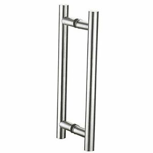 Long Pull Handles for Wood /&Glass Doors Prima Ladder Type Round Back to Back Handles,H-Type Door Pull Handles Stainless Steel Push Pull Door Handle Satin Finish 60 Inch