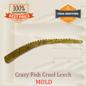 Crazy Fish Cruel Leech Worm Bait Mold Fishing Soft Plastic Lure 50-150 mm