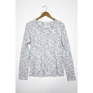 LULULEMON Sweat Embrace Long Sleeve Shirt Tiger Space Dye Top Thumbholes size 6