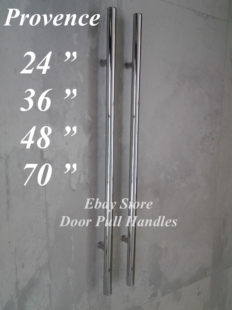 Entry Front Door Long Commercial Door Pull Handle Stainless Steel Entry Chrome