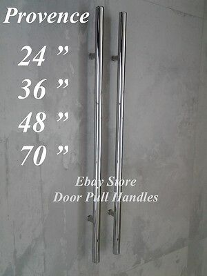 Entry Front Door Long Commercial Door Pull Handle Stainless Steel Entry Chrome Ebay