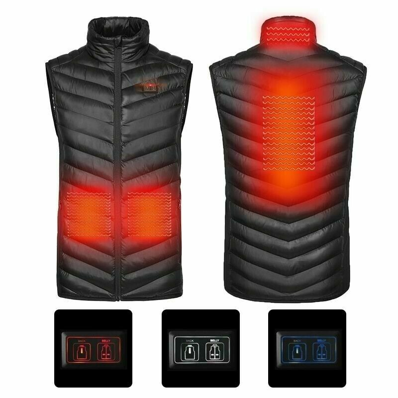 Winter Heated Vest Usb Infrarot Heating jacke Carbon Fiber Electric Thermal New