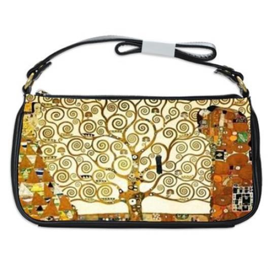 Gustav Klimt The Tree of Life Shoulder Clutch Bag