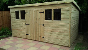 Garden Sheds 3x2 garden shed super heavy duty tanalised 14x6 pent 19mm t&g. 3x2.