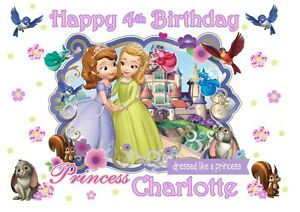 Fine A4 Edible Sofia The First Personalised Girls Icing Sheet Birthday Personalised Birthday Cards Cominlily Jamesorg