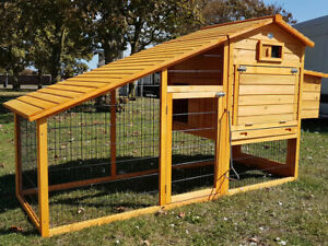 7FT LARGE CHICKEN COOP RUN HEN HOUSE POULTRY ARK HOME NEST BOX COUP COOPS