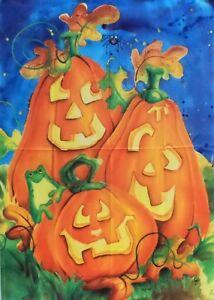 "Pumpkin Trio Halloween Standard House Flag by Toland 28"" x 40"", #1295"