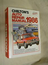 Chilton's Auto Repair manual 1986 Domestic and Canadian Cars from 1979-1986