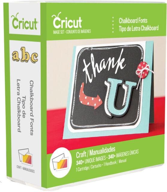 Cricut Cartridge CHALKBOARD FONTS  New & Sealed Please Read Description