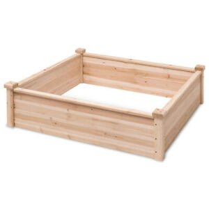 Garden-Bed-Wooden-Large-Planter-Box-Outdoor-Plant-Stand-Flowers-Vegetables-40-in