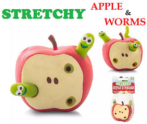 STRETCHY-APPLE-amp-WORMS-Fiddle-Toy-Gift-Anti-Stress-Relief-Help-Christmas-Gift