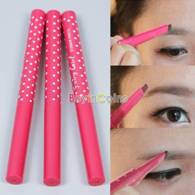 Waterproof Dark Brown Eyebrow Pencil Eye Brow Liner Powder Shaper Makeup Tool