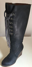SIXTY SEVEN LADIES LEATHER KNEE HIGH BLACK BOOTS SIZE 37