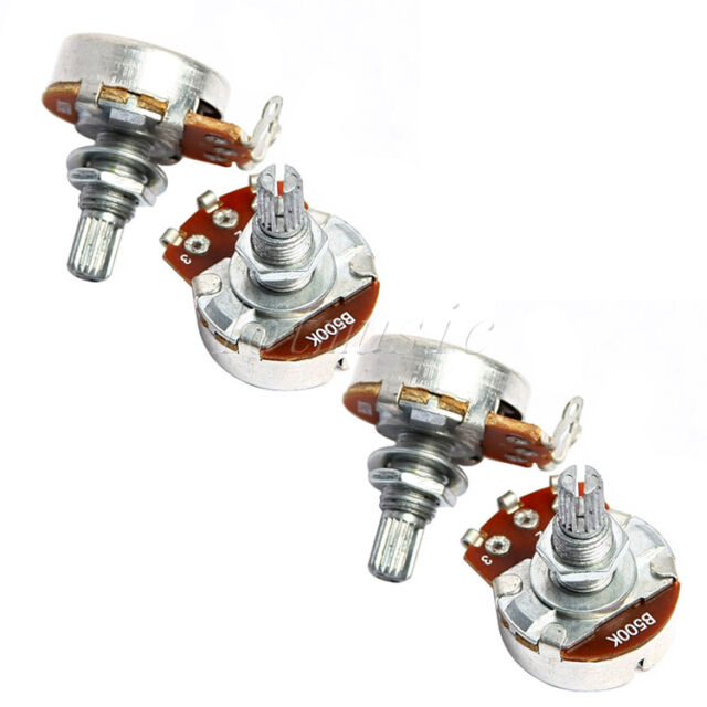 4* chrome Potentiometer 500K B,24mm Base Dia/18mm Shaft guitar parts
