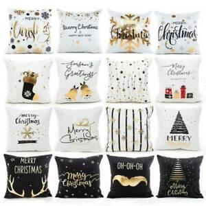 Christmas-Pillow-Case-Glitter-Cotton-Linen-Sofa-Throw-Cushion-Cover-Home-Decor