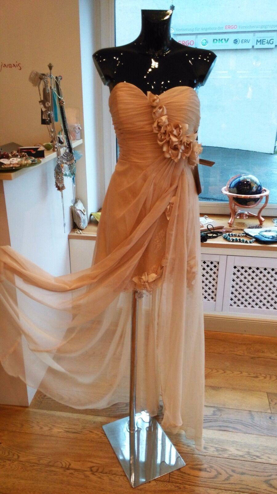 Beiges Abendkleid Größe 10 (USA) Damen