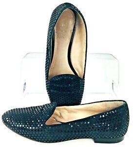 Vince-Camuto-Edmonton-Loafer-Women-039-s-Sz-6-5-M-Black-Slip-On-Round-Toe-Flat-Shoes